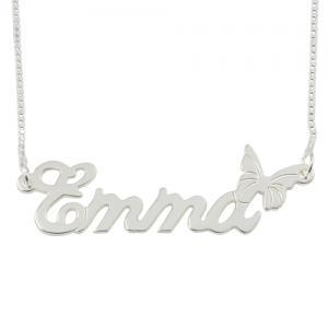 Sterling Silver Name Necklace with ..