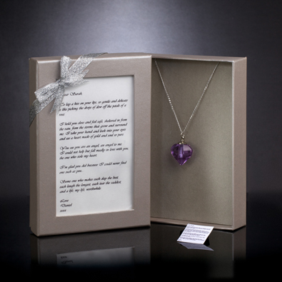 Message on a Necklace Personalised Jewellery Gift Set