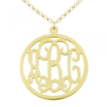 Gold Over Silver Monogram Necklace