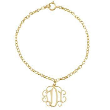 Gold plated Monogram Bracelet